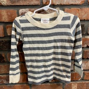Hannah Andersson Organic Cotton Striped Pajama Top